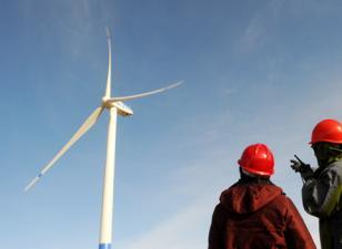青海茶卡风电场一期工程首台风机并网成功